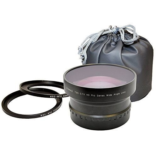Opteka T90 0.7X HD Pro Series Wide Angle Lens for 72mm & 82mm Camcorders