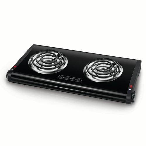 BLACK+DECKER Double Burner Portable Buffet Range, Black, DB1002B [Double Burner]