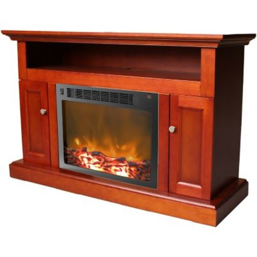 Cambridge Sorrento Electronic Fireplace Insert; Cherry