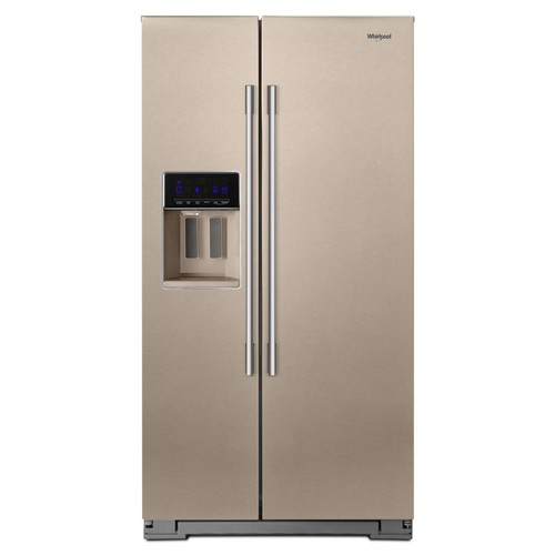 Whirlpool 36 in. W 21 cu. ft. Side by Side Refrigerator in Fingerprint Resistant Sunset Bronze, Counter Depth