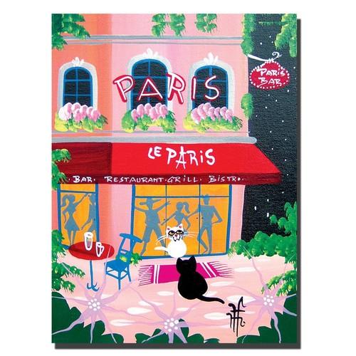 Trademark Global Herbet Hofer 'Le Paris' Canvas Art [Overall Dimensions : 24x32]