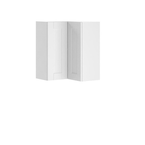 Eurostyle Ready to Assemble 24x30x24.5 in. Oxford Wall Corner Thermofoil Cabinet with Full Height Door in Warm White