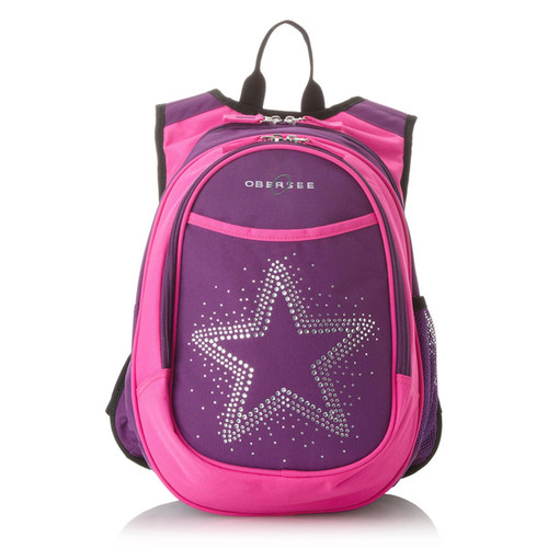 Obersee Kids Pre-School All-In-One Bling Rhinestone Star Backpack With Cooler - Star Backpack
