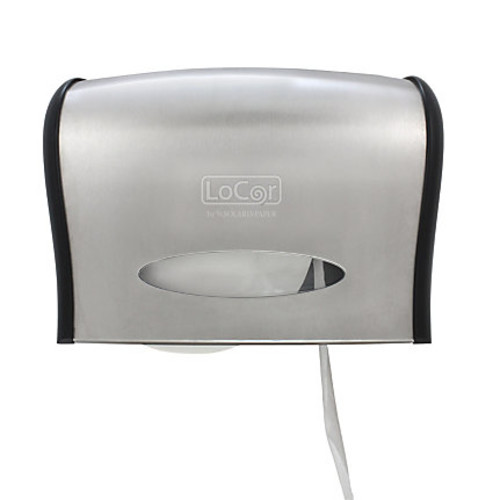 LoCor Wall-Mount Jumbo Bath Tissue Dispenser, Stainless