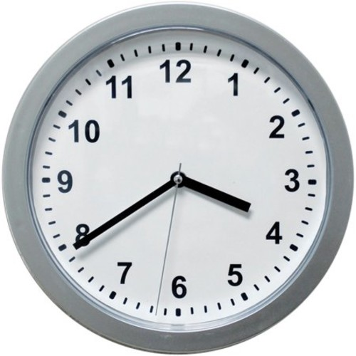 Trademark Silver Wall Clock With Hidden Safe 10 Inches By 10 Inches