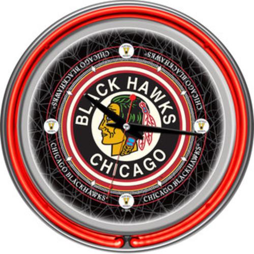 Milwaukee Bucks NBA Chrome Double Neon Ring Clock