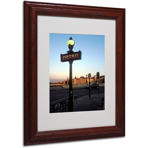 Le Metro at Dusk by Kathy Yates Matted Framed Art with Wood Frame, 11 by 14-Inch [11 by 14-Inch]