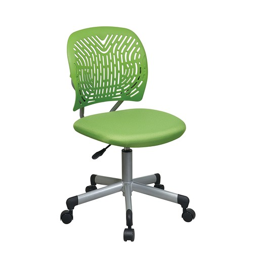 Office Star Designer Task Chair in Fabric and Plastic Back, Green [Green]