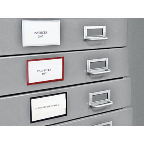 Panter Magnetic Label Holders, Black, Pack Of 10