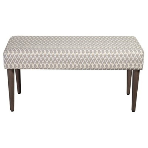 Homepop Gray Diamond Collection Bench Gray And Taupe Small Diamond - HomePop