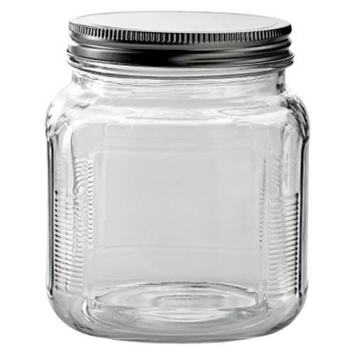 Glass Cracker Jar with Metal Lid