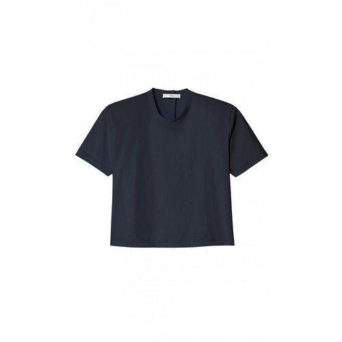 TIBI Novelty Tee With Removable Shoulder Pads
