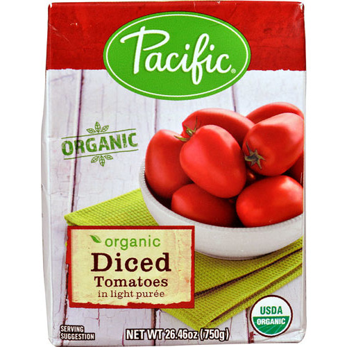 Pacific Natural Foods Organic Diced Tomatoes in Light Puree -- 24.26 oz