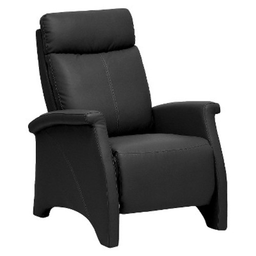 Sequim Modern Recliner Club Chair Black - Baxton Studio