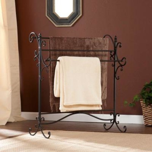 Southern Enterprises Deanna Black and Bronze Storage Furniture