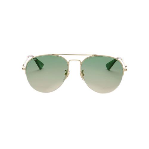 GUCCI Green Gradient Aviator Sunglasses