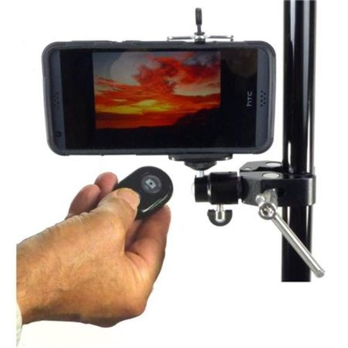 Alzo Digital Smartphone Mount with Ball Head, Clamp & Bluetooth Shutter Release