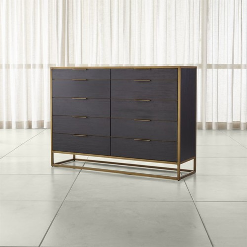 Oxford Black 10-Drawer Tall Dresser