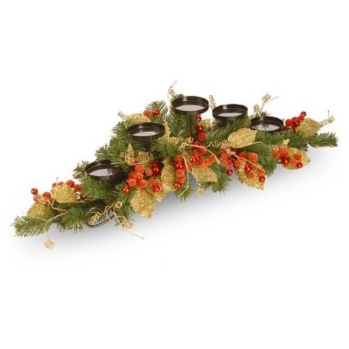 Leaf Vine 5-Candle Holder Berry 36