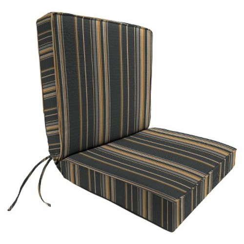 Jordan Boxed Edge Chair Cushion - Charcoal