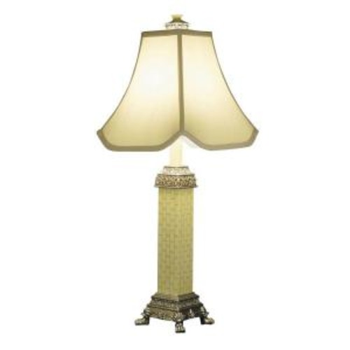 ORE International 28.5 in. Three Way Ivory Table Lamp