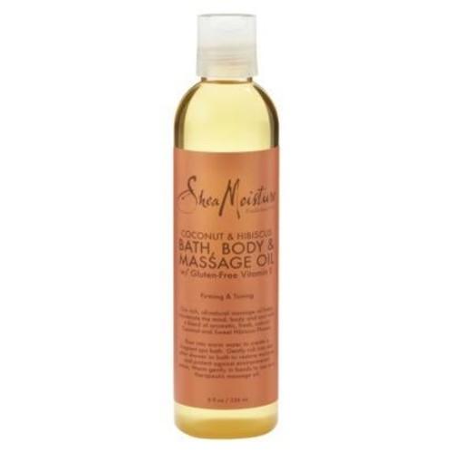 SheaMoisture Coconut & Hibiscus Bath, Body & Massage Oil, 8 Ounces