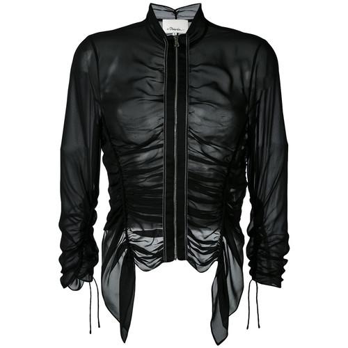 3.1 PHILLIP LIM Ruched Sheer Jacket