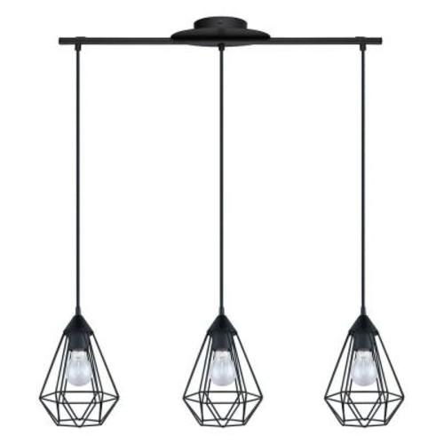 Eglo Tarbes 3-Light Matte Black Pendant