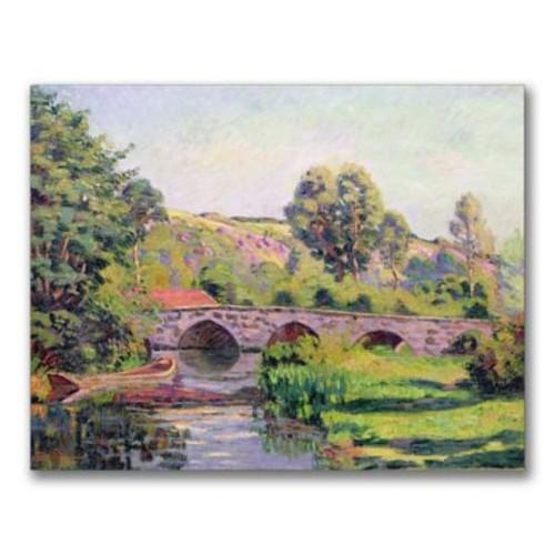 Trademark Fine Art Jean Baptiste Guillaumin 'The Bridge at Boigneville' Canvas