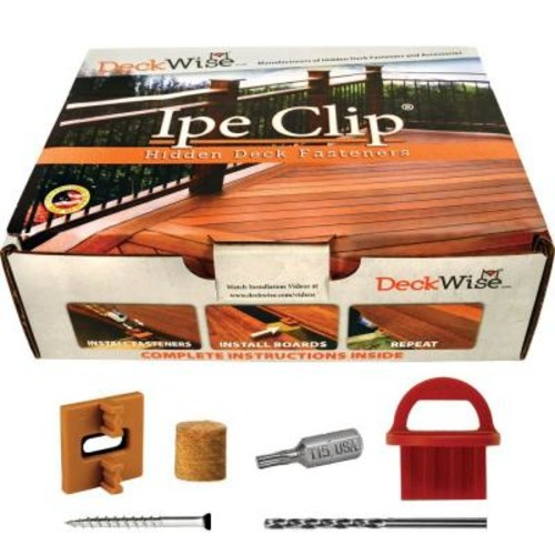 DeckWise Extreme4 Ipe Clip Brown Biscuit Style Hidden Deck Fastener Kit for Hardwoods (175-Pack)