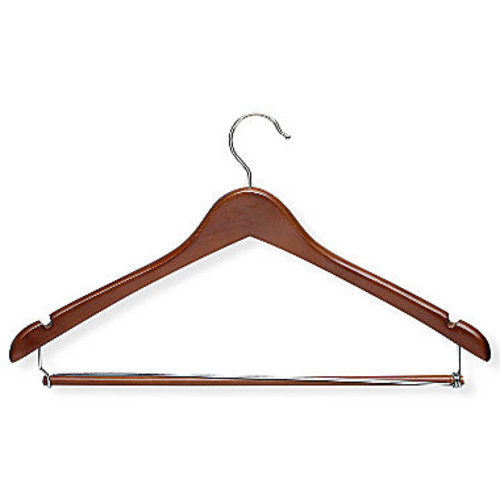 Honey-Can-Do HNGT01265 Contoured Suit Hanger with Locking Bar Cherry, 6-Pack [Cherry]