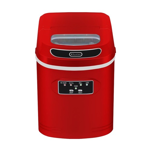 Whynter - Whynter Compact Portable Ice Maker 27 lbs - Metallic Red