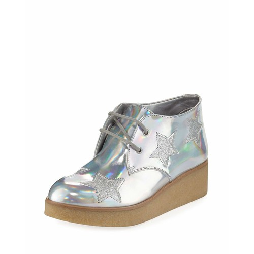 STELLA MCCARTNEY Wendy Star-Patched Platform Sneaker, Sizes 10T-5Y