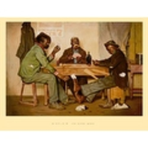 ''The Poker Game'' by Irving Sinclair African American Art Print (20 x 26 in.)