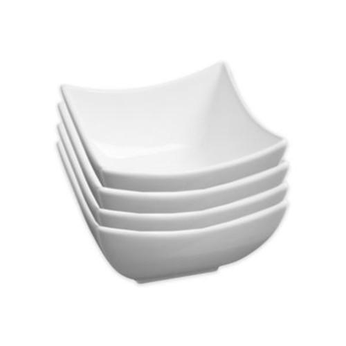 Fortessa Accentz Square Bowls in White (Set of 4)
