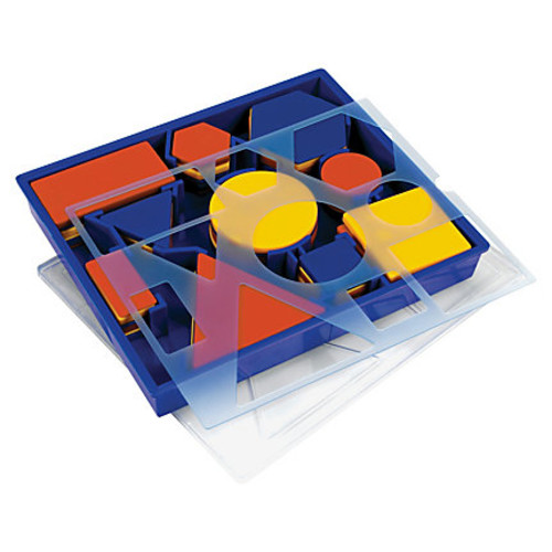 Learning Resources Attribute Block Set - Theme/Subject: Learning - Skill Learning: Sorting, Shape, Comparison, Classifying, Size Differentiation, Patterning, Counting - 60 Pieces - 5+