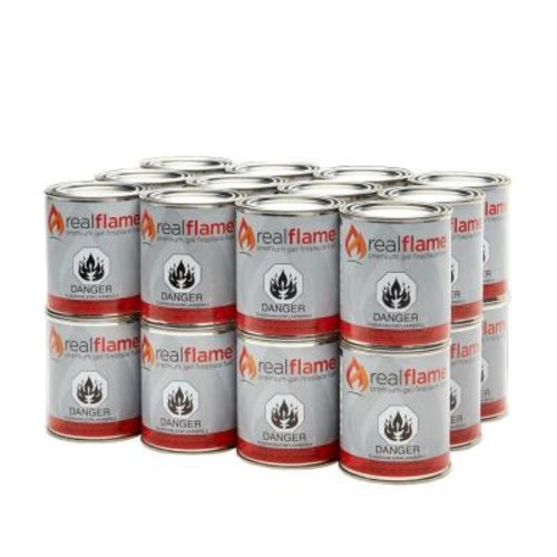 Real Flame 13 oz. 24 lb. Gel Fuel Cans (24-Pack)