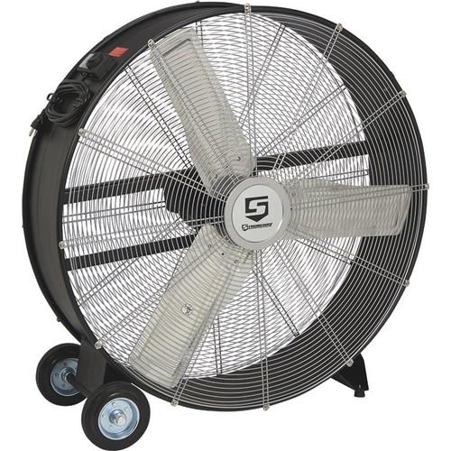Strongway Open Motor Direct-Drive Drum Fan  36in., 1/3 HP, 11,200 CFM