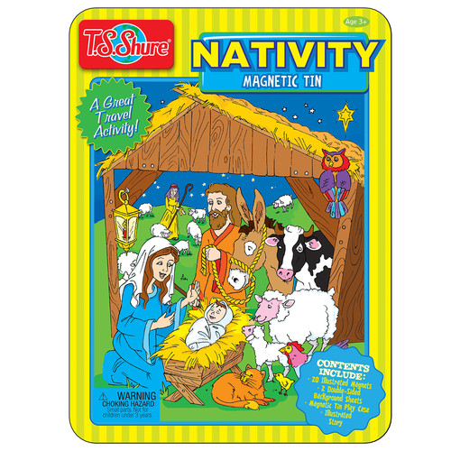 TS Shure Nativity Magnetic Tin Playset