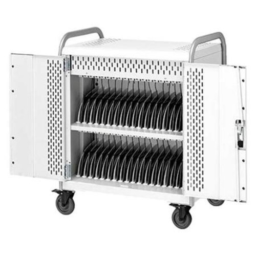 Bretford 36 Unit Pulse Tablet M Cart with Back Doors, Charge Only MDMTAB36-SSWB