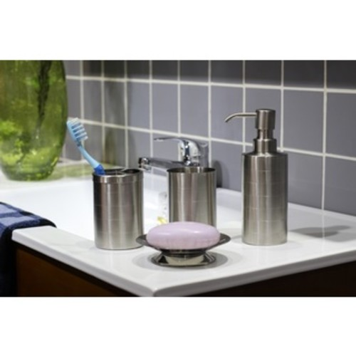 Stainless Steel Bath Accessory 4-piece Set [option : Matte]