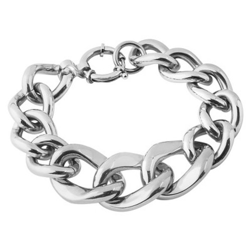 West Coast Jewelry Stainless Steel Curb Link Chain Bracelet