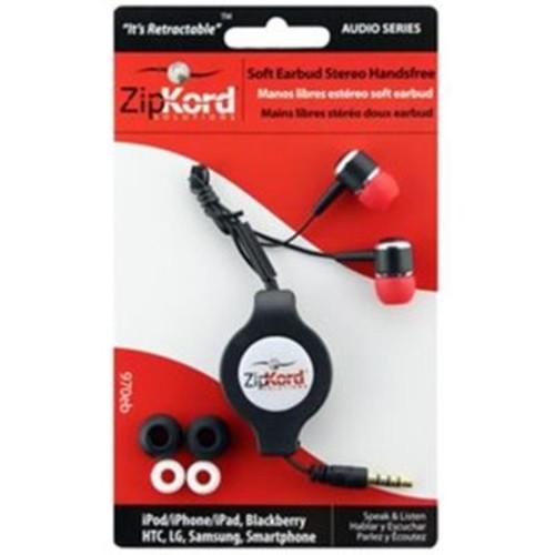Ekg-Zipkord ZipKord Retractable Stereo Mobile Phone Headset Silver(DGC13663)