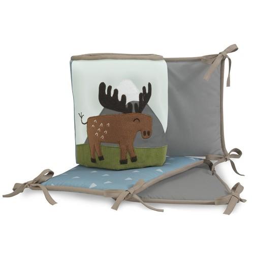 Lambs & Ivy(R) Tippy Canoe Blue/Gray Camping 4 Piece Crib Bumper