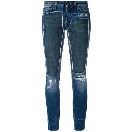 DOLCE & GABBANA Deconstructed Skinny Jeans