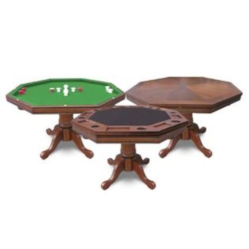 Hathaway Games BG2366T Kingston Walnut 3-in-1 Poker Table