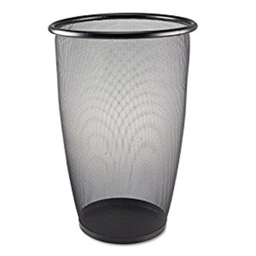 Safco Products 9718BL Onyx Mesh Large Round Wastebasket, 9-Gallon, Black: Office Products [9 Gallon]