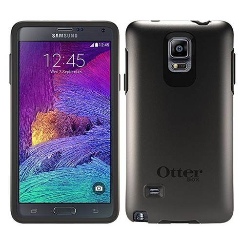 OtterBox Symmetry Series Drop Protection Case for Samsung Galaxy Note 4 - Black