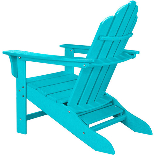 Hanover Outdoor HVLNA15AR Aruba All-weather Contoured Adirondack Chair with Hideaway Ottoman