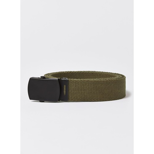 Khaki Matte Buckle Webbed Belt